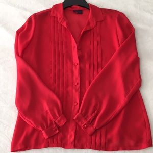 VTG 80's red button up